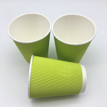 green color disposable party cup ripple wall paper cup