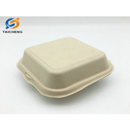 virgin pulp sugarcane bagasse hamburger food container