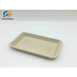 eco friendly virgin pulp original color sugarcane bagasse plate