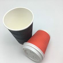 disposable to go paper cups ripple wall paper cup