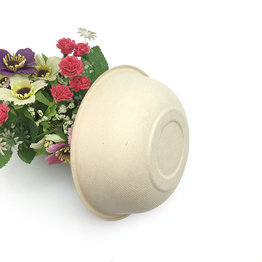 Round Shape Bagasse Pulp Disposable Salad Bowl