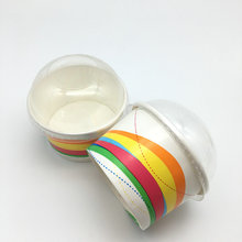 disposable cold gelato food grade take out paper cup bowl with dome lid