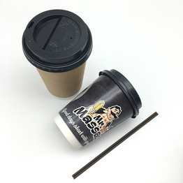 disposable double wall hot drink take out paper cup with lid