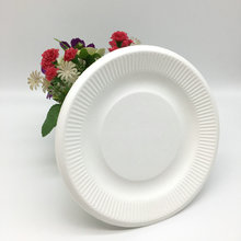 compostable round sugarcane bagasse plain dishes
