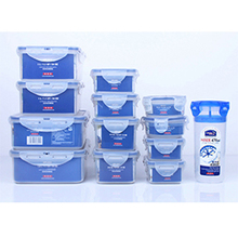 microwavable transparent plastic food container with leakproof lid