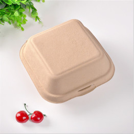 recycled bagasse dinnerware food burger box