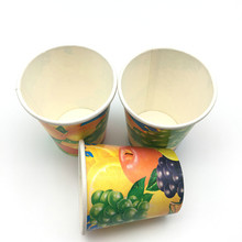 Paper Material and Single Wall Style cold drink paper cups
