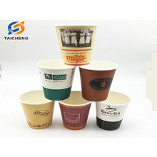 Custom printing design disposable single wall paper cup
