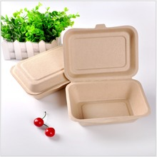 compostable heavy duty Sugarcane Bagasse burger Box