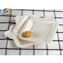 different size bagasse disposable paper plate tray raw material