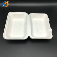 eco friendly sugarcane bagasse paper plate box with cover