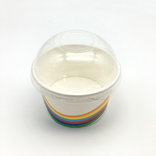disposable cold Ice cream paper glass paper bowl with lid