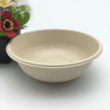 disposable brown color recycled round sugarcane Salad Bowl