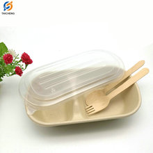 biodegradable sugarcane clamshell Salad Box Doggy Box