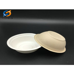 350 ml biodegradable sugarcane bagasse compostable bowl