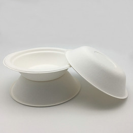 350ml 400ml 500ml 1000ml compostable biodegradable sugarcane bagasse bowl