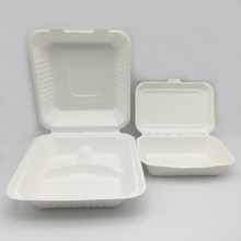 Biodegradable Compostable Disposable Food Box with Paper Pulp Material