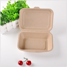 Disposable Bagasse Tableware Clamshell Food Box