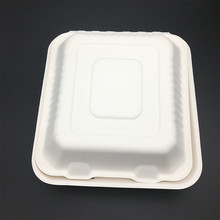 FDA Certificated Sugarcane Pulp Biodegradable Lunch Box