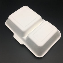 1000ml compartment biodegradable food box with compostable bagasse material