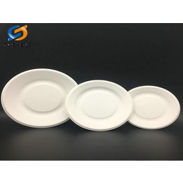 different size eco friendly biodegradable bagasse plate with striped