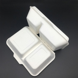 two compartment compostable biodegradable packaging box