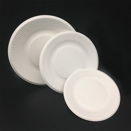 Round Eco bagasse pulp Compostable Biodegradable Paper Plates
