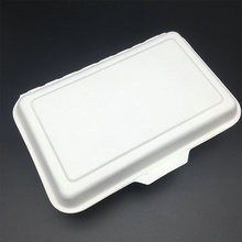 Disposable biodegradable one-off oilproof hinged box