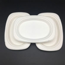 Eco-Friendly Disposable biodegradable paper plates oval plate