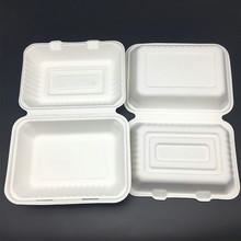 9 inches compostable biodegradable sugarcane bagasse food packaging doggy box