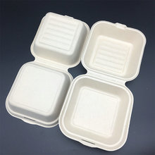 wheat straw biodegradable food packaging Hamburger container