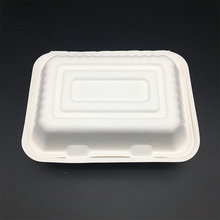 9 inches premium biodegradable sugarcane bagasse lunch box