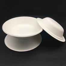 eco-friendly heavyweight biodegradable hot soup bowl with lid