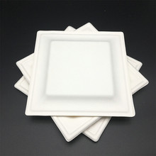 Renewable compostable Biodegradable heavy duty square food platter