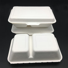 1000ml biodegradable compostable take away hinged food clamshell