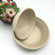 850ml 1000ml compostable heavy duty biodegradable salad bowl with lid