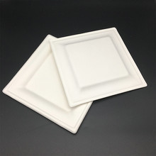 Renewable compostable eco take away heavy duty square cake platter