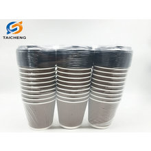 Amazon custom package ripple wall paper cup with lid