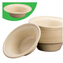 Biodegradable Plant-Based Tree Free Disposable Bowls Wheatstraw Fiber is Certified Compostable