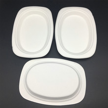 eco-friendly natural plant fiber bagasse pulp biodegradable small oval plate