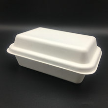 1000 ml biodegradable sugarcane disposable tray and lid