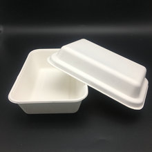 high quality clamshell disposable biodegradable tray and lid