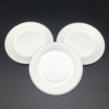natural Compostable sugarcane Bagasse Eco-Friendly Round Paper Plates