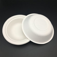 Disposable Natural eco-friendly sugarcane pulp white hot soup bowls