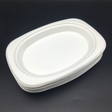 food grade dinnerware biodegradable small oval plate trays