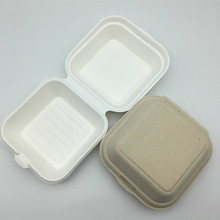 Biodegradable microwaveable food containers made from sugarcane pulp