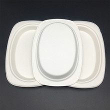 Heavy Duty Natural Sugarcane Biodegradable Compostable Bagasse Oval Platter