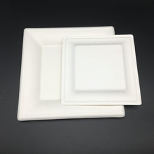 Sugarcane Fiber Bagasse Tree-Free Heavy Duty Disposable Biodegradable Plate for Dessert