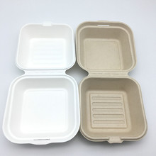 bagasse biodegradable food packaging lunch box Disposable lunch boxes