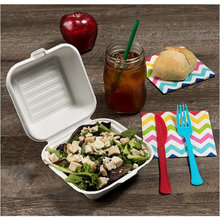 8inch 9inch High quality heavy duty biodegradable food box with FDA certified